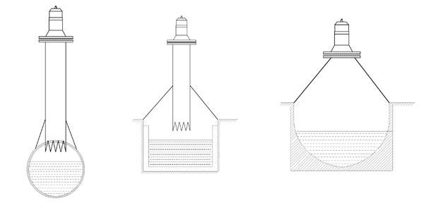 Варианты установки ППИ ультразвукового расходомера ЭХО-Р